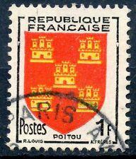 STAMP / TIMBRE FRANCE OBLITERE N° 952 BLASON POITOU