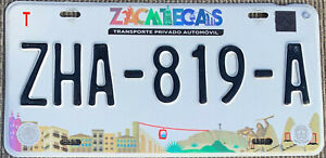 🌟🎼🎶 AUTHENTIC MEXICO 2010's ZACATECAS LICENSE PLATE. 🌟🎼🎶