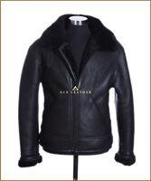 B3 Dark Brown / Black Fur Mens RAF WW2 Shearling Sheepskin Bomber Leather Jacket
