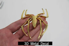 1Pcs Metal 3D Spider Badge Sticker Car SUV Exterior Interior Decal Emblem Golden