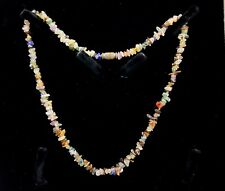 Vintage Gemstones chips beads necklace.