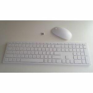 HP Pavilion 800 Keyboard Mouse Set White Spanish Localised Wireless QWERTY
