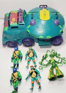 2018 Rise of the Teenage Mutant Ninja Turtles Vehicle TMNT Turtle Tank / Figures