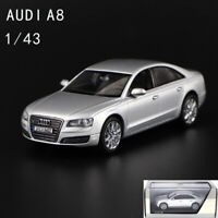 1/43 Audi A8 quattro GmbH Eissilber Collectible Diecast Car Model Gift Display