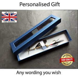 Personalised Fishing Spinner Lure Bait Gift for Fisherman Lover Dad Grandad Son