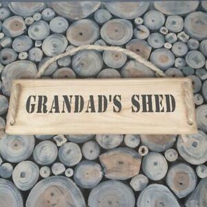 Handmade  ''Grandad's Shed'' wall plaque