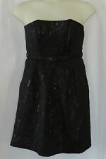 Black Dress Belt 8 Womens Strapless Cocktail Party Target LIMITED EDITION Medium