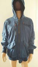blouson avec capuche pepe jeans heritage BLEU pm400616 pixton taille XL