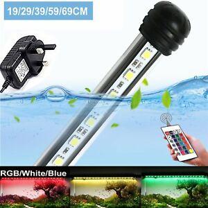 Submersible Aquarium Fish Tank LED Light 5050 SMD RGB Strip Lights Bar 19-112cm