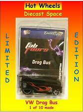 Hot Wheels VW Drag Bus Black w Flames Fab Fours Limited Edition 1 of 10 Made