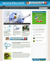 KIDNEY HEALTH ADVICE BLOG AND WEBSITE WITH AFFILIATE STORE + BANNERS & DOMAIN