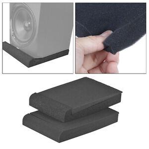 Pack von 2 Audio Studio Monitor Isolation Schwamm Pads Plattform für