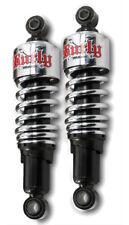 """Burley Brand CHROME Slammer Shocks - 10.5""""_115/155 in/lbs - HD FLH FLT _B28-1203"""
