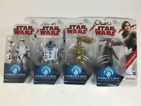 Lot of 4 - Star Wars - Force Link R2-D2, C3-PO, Stormtrooper, Jyn Erso