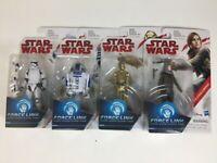 Lot of 4 - Star Wars - Force Link R2-D2, C3-PO, Stormtrooper, Jyn Erso