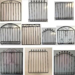 METAL GARDEN GATE BLACK WROUGHT IRON SMALL GATES MODERN WALL STEEL 11 STYLES
