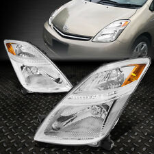 For 2006 2009 Toyota Prius Pair Chrome Housing Amber Corner Headlight Lamp Set