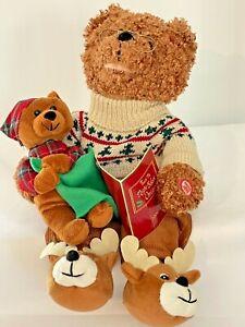 "Avon 2006 Animated Talking Plush Night Before Christmas Teddy Bear 16""L Works!"