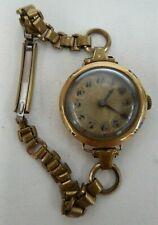 VINTAGE ROLEX  LADIES WATCH 15 CT GOLD CASE WORKING
