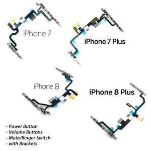 NEW iPhone 7/7 Plus 8/8 Plus Power Button Volume Ringer Camera Flash w/Brackets