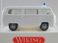"""Wiking 86404 VW T2a Bus (1967) """"POLIZEI"""" in weiß 1:87/H0 NEU/OVP"""