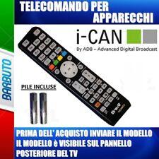 TELECOMANDO UNIVERSALE PER APPARECCHI MARCA ADB I-CAN, DECODER ICAN