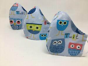 Behelfsmaske, Gesichtsmaske, keine Schutzmaske Mund Nasen Maske Eule 01 UHU Owl
