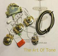 TAOT Stratocaster® CRL Wiring Kit -  CTS 450G, CRL 5-way, .047 OD Cap - Strat