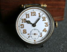Vintage Antique WW1 Gents Mens Manual Wind Trench Watch - for parts