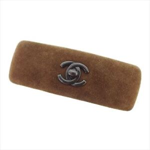 Chanel Valletta COCO Brown suede Woman Authentic Used T8390