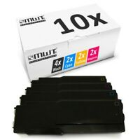 10x Tóner XXL para Xerox Workcentre 6605-dnm 6605-dn Phaser 6600-n 6600-dnm