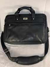 Briefcase Luggage Bag - American Tourister | Black Leather Business Laptop Case