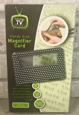 Handy Credit Card Size Magnifier Card With Built In LED Light