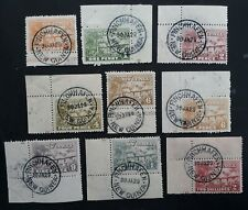 VERY RARE 1928- New Guinea 9 Native Huts stamps with Finchhafen cds