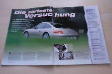 Sport Auto 4289) Porsche 911 996 Carrera Tiptronic S mit 300PS im TEST auf 4 Sei