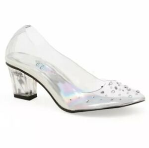 1031 Be Whatever Child Clear Glass Slipper Shoes Princess Dress Up S(11/12)
