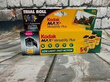 KODAK MAX Versatility Plus 35mm Color Print Film Sealed 5 Rolls 400UC  Bonus New