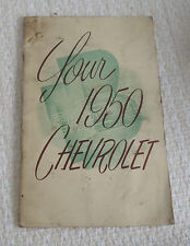 Owner's Manual for 1950 Chevrolet
