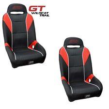 PRP GT UTV Front Seats with Sliders (2) Red Black Arctic Cat Wildcat Trail 700