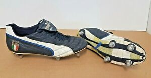 "Puma King SL ""ITALIA"" FG Football Boots - Pittards - UK 10 - Rare Metal Studs"