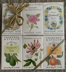 Vintage (1995) Crabtree & Evelyn Swiss Made Soaps In Original Box With Gold Bow