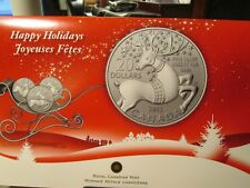 2012 CANADA  $20 HAPPY HOLIDAYS 1/4 OUNCE  REINDEER  XO 2
