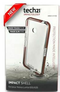 NEW Tech21 Impactology Impact Shell Cover Case for Nokia Lumia 630/635 Clear