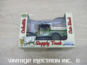NEW - GEARBOX - WWI Doughboy - Ford Model T Supply Truck Coin Bank - 76755