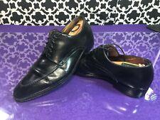 Santoni Black Leather Oxford Itailan Dress Shoes - 8.5 M