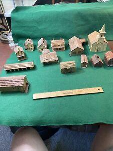 N Scale Village Old School Wood Building Nice (HO106715)