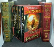 LORD OF THE RINGS SPECIAL DVD EDITION 1 & 2 & HOBBIT J.R.R TOLKIEN 4-BOOK SET