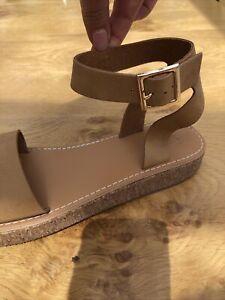 Asos Tan Sandals . New . Size 6