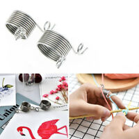 Accessories Stainless Steel Knitting Tools Yarn Spring Guides  Thimble Ring