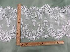US Seller- 3 meters lace trim Venice French Chantilly style white 29cm wide